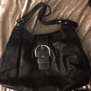 Coach buckle bag with silver detail🙌🏻